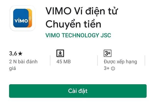 Ví điện tử Vimo