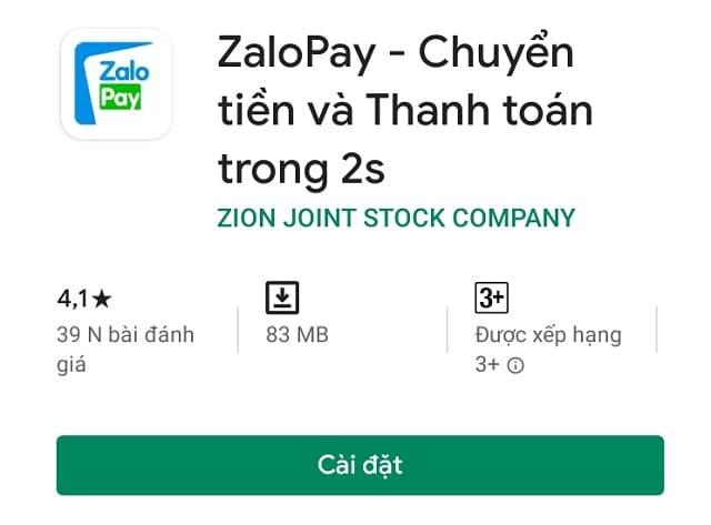 Ví điện tử Zalo Pay