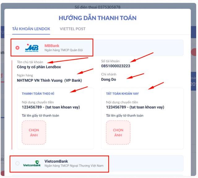 Hướng dẫn thanh toán khoản vay Lendbox