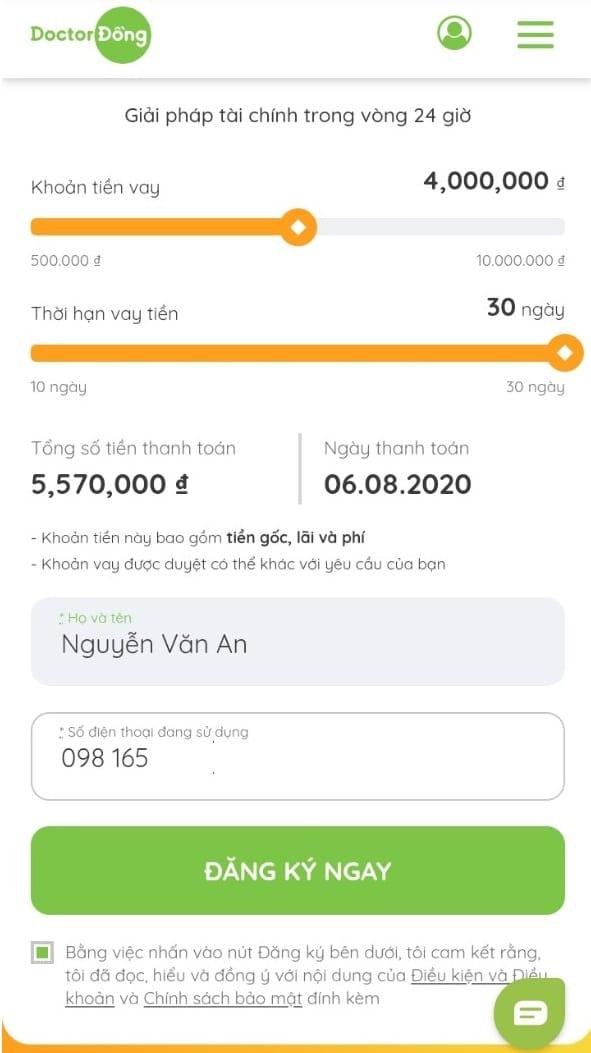 Doctor Đồng - Ưu đãi 0% lãi suất & phí cho khách hàng vay lần đầu 1