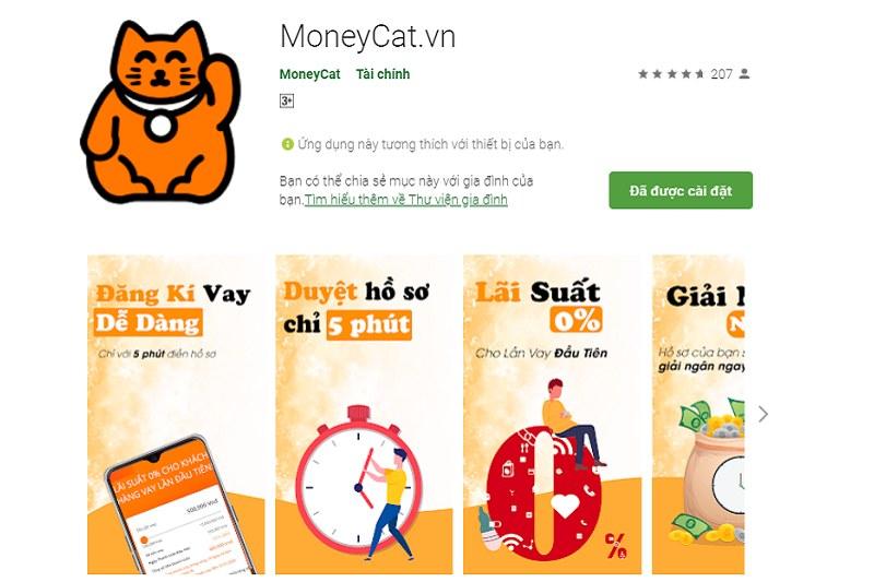 vay tiền MoneyCat App