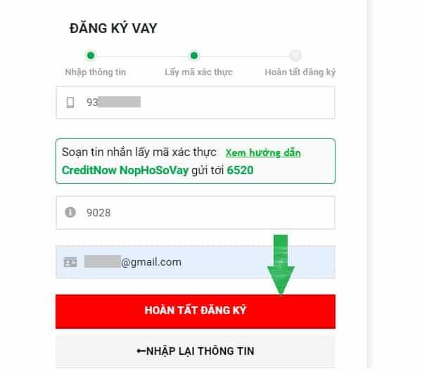 Hướng dẫn vay tiền online CreditNow, nhận kết quả vay trong vòng 60s 1
