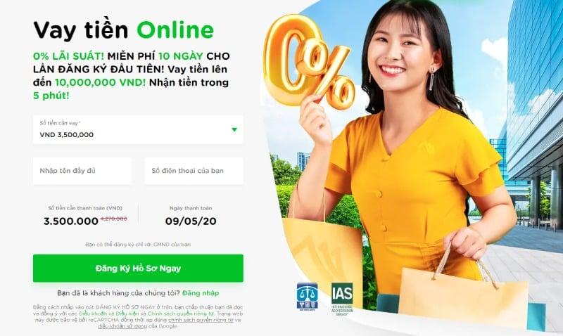 Vay tiền nóng online không thế chấp