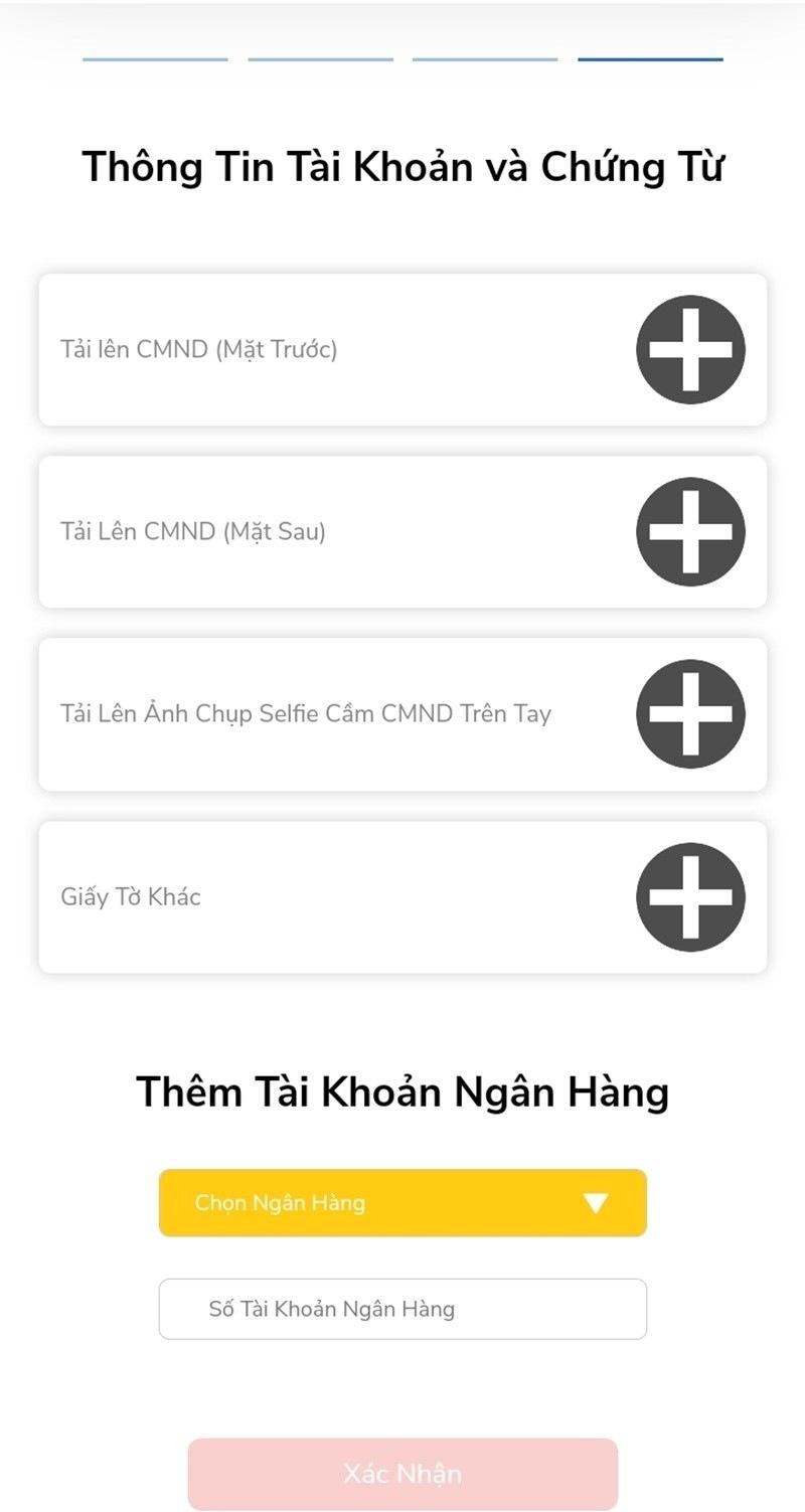 Tải hình ảnh CMND/CCCD lên hệ thống WebVay