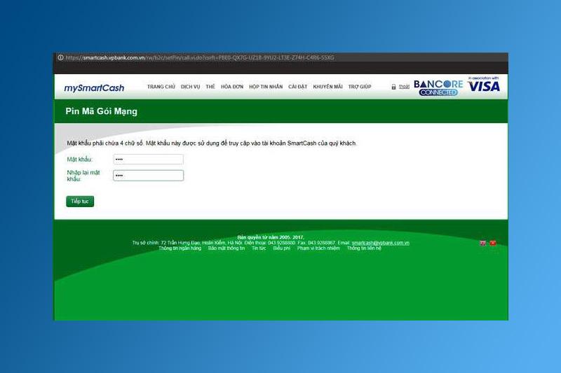 Nhập mật khẩu đăng ký