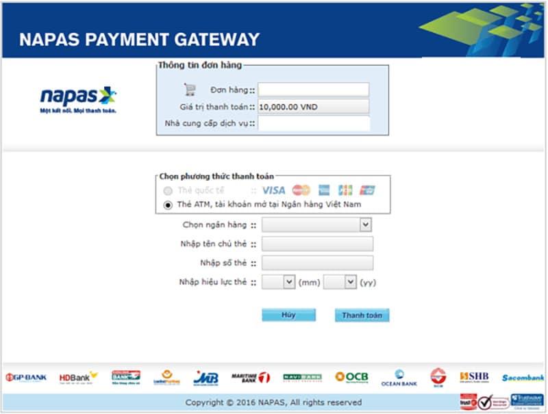 Thanh toán trực tuyến bằng thẻ Napas nhanh chóng tiện lợi