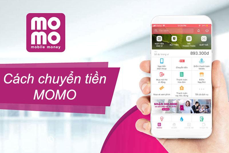 Cách chuyển tiền MoMo đến ví MoMo và đến tài khoản ngân hàng