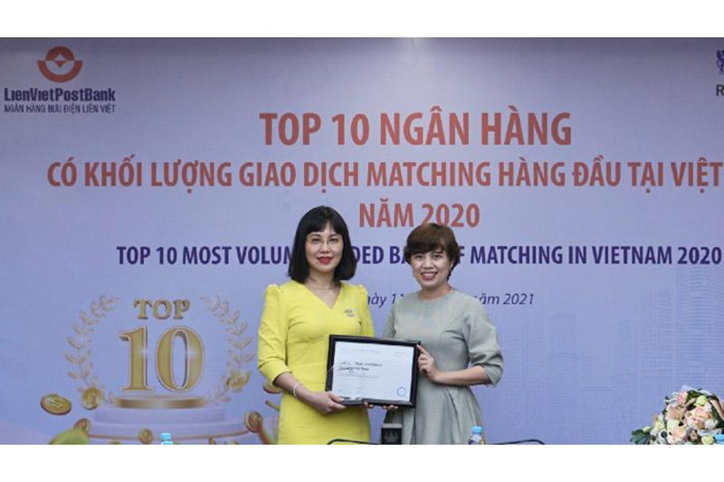Ngân hàng Bưu điện Liên Việt nhận nhiều giải thưởng
