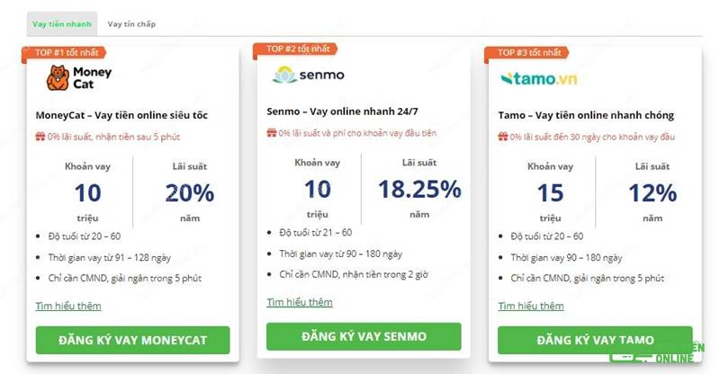 Vay tiền qua các dịch vụ vay tiền online cũng là một lựa chọn tốt với những khách hàng có nợ xấu