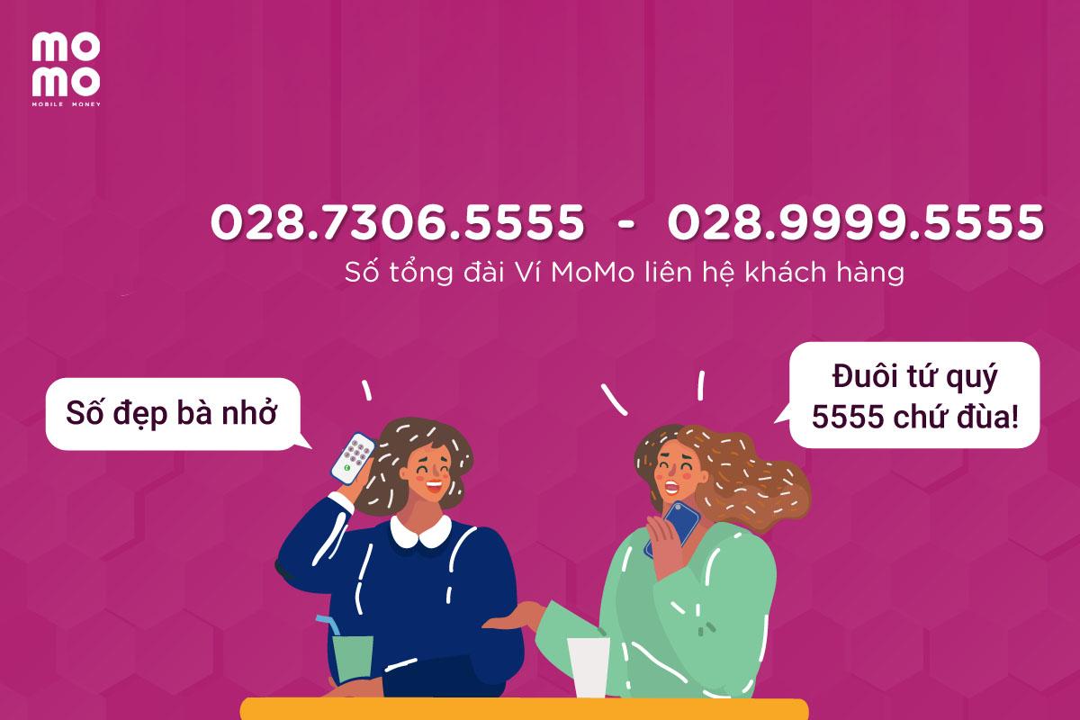 Tổng đài liên hệ khách hàng của MoMo chỉ có 2 số điện thoại