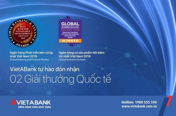 Ngân hàng Việt Á nhận nhiều giải thưởng trong nước lẫn quốc tế