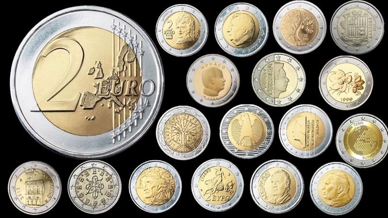 Tiền kim loại Euro cùng mệnh giá được phát hành ở những nước khác nhau sẽ mang hình ảnh biểu trưng cho đất nước đó