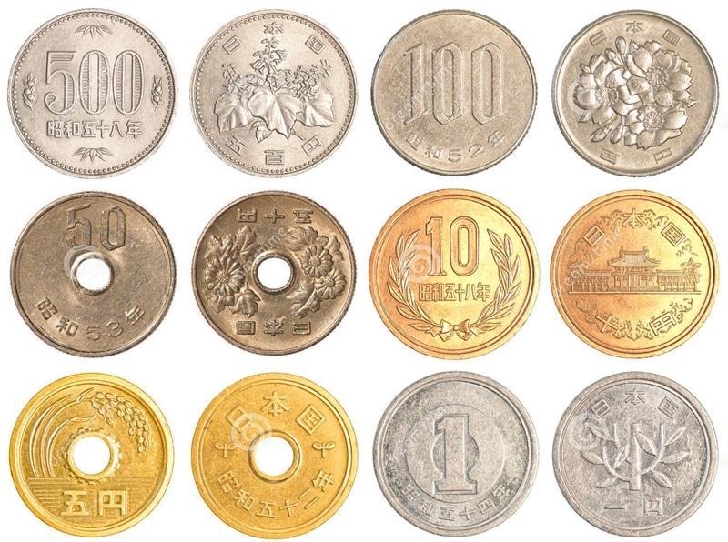 Tiền kim loại được sử dụng nhiều trong đời sống người dân Nhật Bản