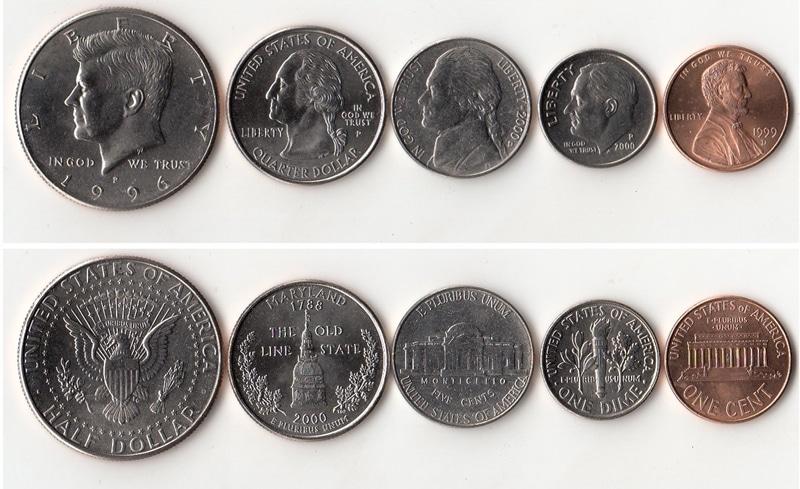 Các đồng tiền kim loại của Mỹ