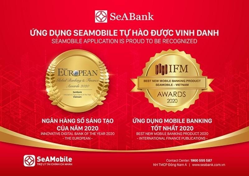 Ngân hàng SeABank là một ngân hàng uy tín được vinh danh qua nhiều giải thưởng danh giá