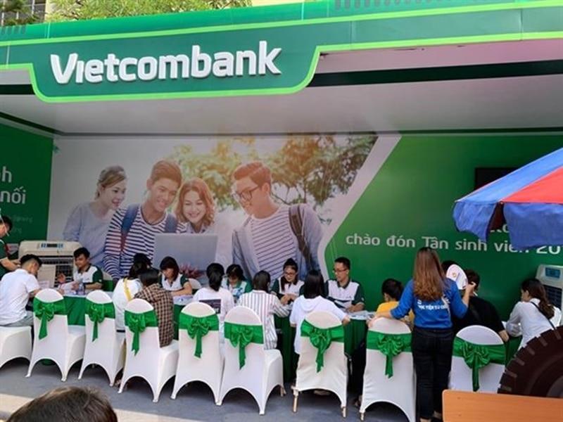 Vietcombank là một trong những ngân hàng đi đầu trong dịch vụ vay tiền sinh viên