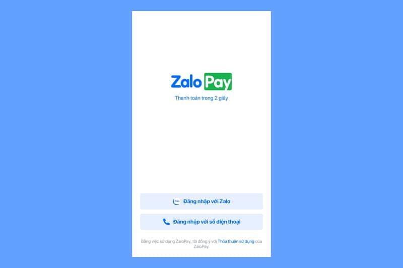 Đăng nhập vào ZaloPay