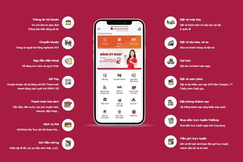 Agribank E-Mobile Banking mang đến nhiều tiện ích giao dịch cho khách hàng