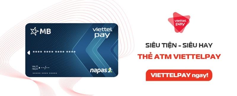 Thẻ ATM ViettelPay rứt tiền dễ dàng